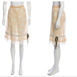 Red Valentino knee-length polka dot skirt